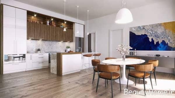 آشپزخانه با طراحی جالب گالی