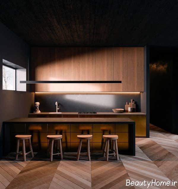 آشپزخانه با طراحی متفاوت گالی