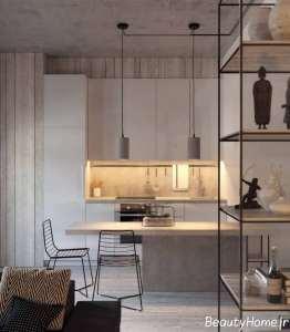 آشپزخانه با دیزاین جذاب گالی