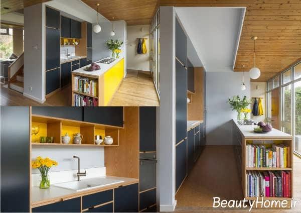آشپزخانه با طراحی مدرن گالی
