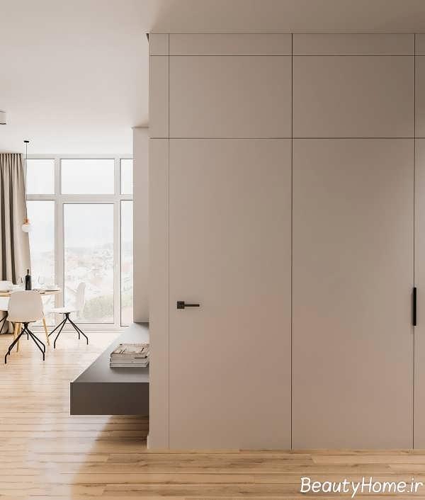 طراحی زیبای آپارتمان کوچک