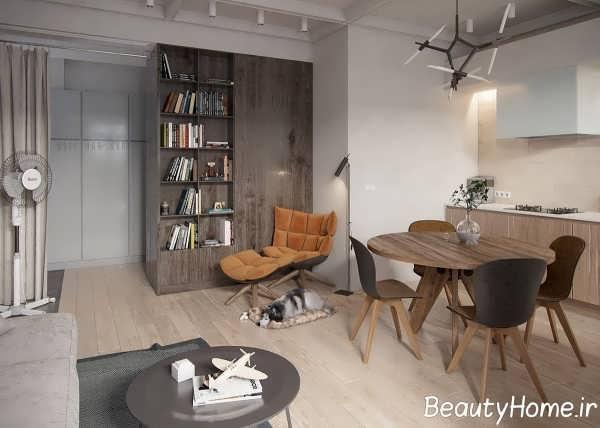 طراحی شیک آپارتمان کوچک