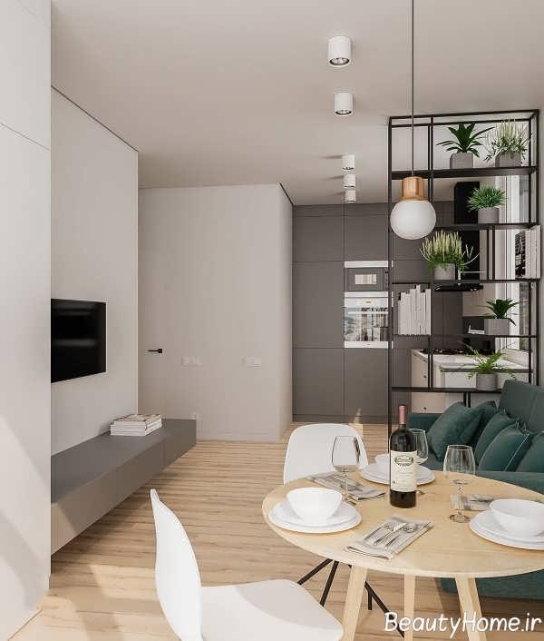 طراحی لاکچری آپارتمان کوچک
