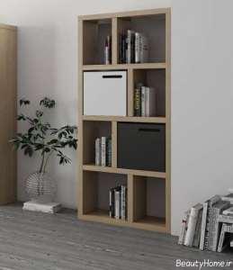 قفسه کتاب شیک و زیبا