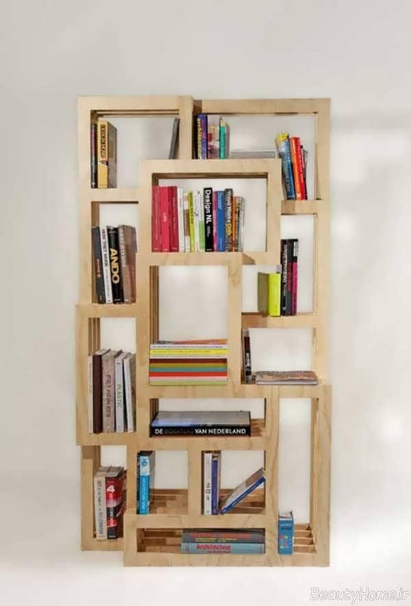 قفسه زیبا دیواری برای کتاب