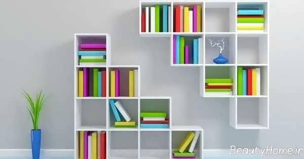 قفسه سفید برای کتاب