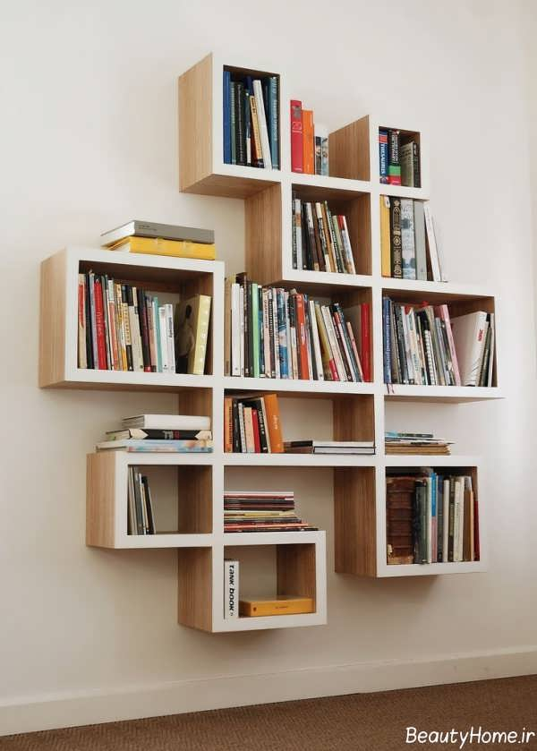 مدل قفسه کتاب جدید و زیبا