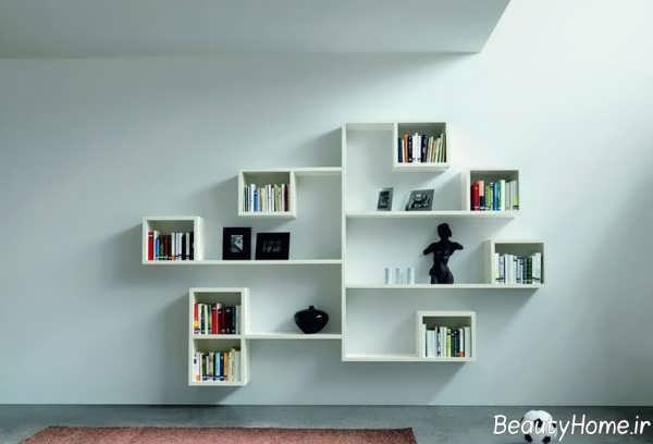 قفسه کتاب زیبا و شیک