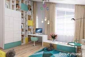 دکوراسیون زیبا و کاربردی اتاق مطالعه