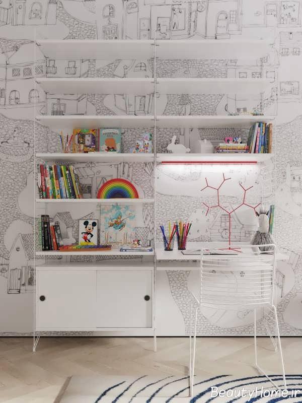 دکوراسیون زیبا و مدرن اتاق مطالعه