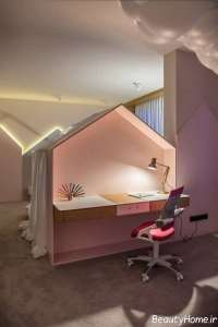 نورپردازی اتاق مطالعه کودک