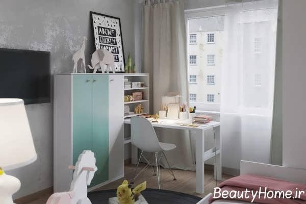 دیزاین داخلی اتاق مطالعه برای کودکان