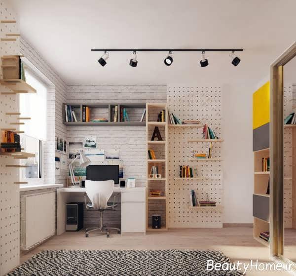 دیزاین شیک و کاربردی اتاق مطالعه