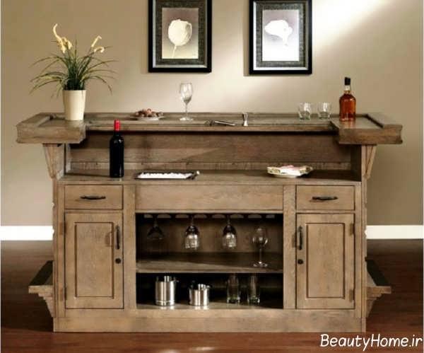 مدل میز بار چوبی