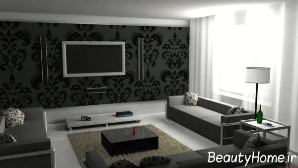 تزیین پشت تلویزیون با کاغذ دیواری