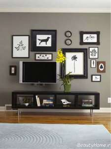 تزیین شیک و مدرن دیوار پشت تلویزیون