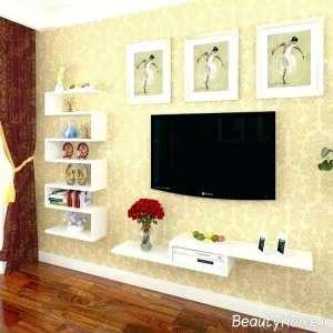 تزیین زیبا پشت تلویزیون با کنسول