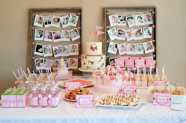 تزیینات زیبا برای میز تولد
