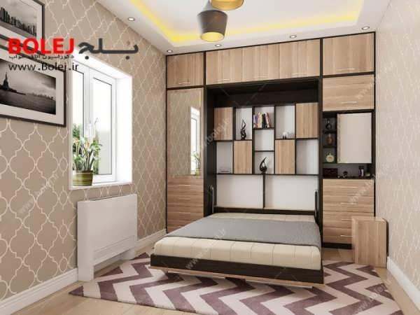 مدل تخت خواب تاشو دیواری