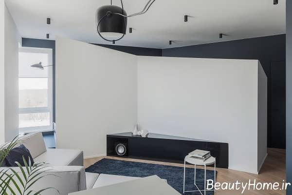 طراحی متفاوت اتاق با ابعاد هندسی