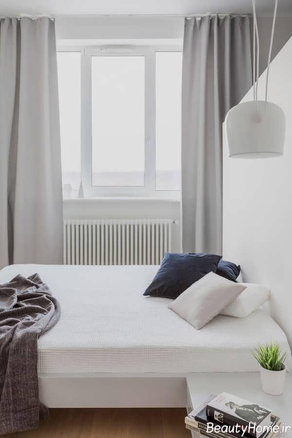 اتاق خواب شیک با ابعاد هندسی