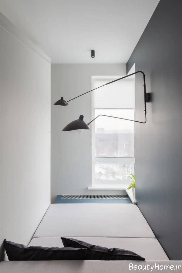 طراحی زیبای اتاق با ابعاد هندسی
