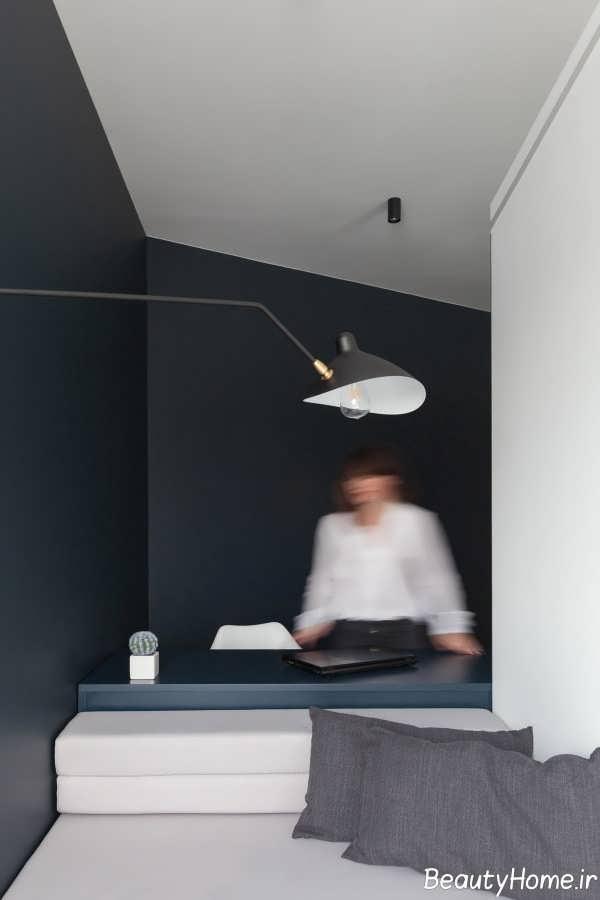 اتاق کار با ابعاد متفاوت هندسی