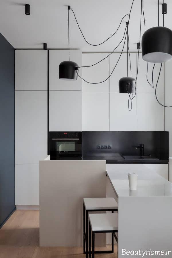 دیزاین جذاب تیز و زاویه دار در خانه لاکچری