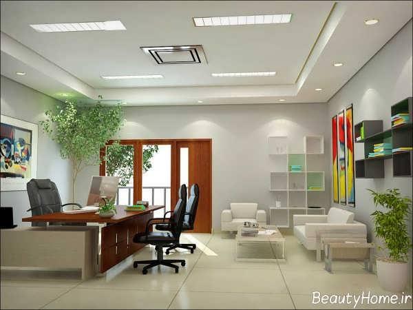 طراحی نورپردازی دفتر بیمه