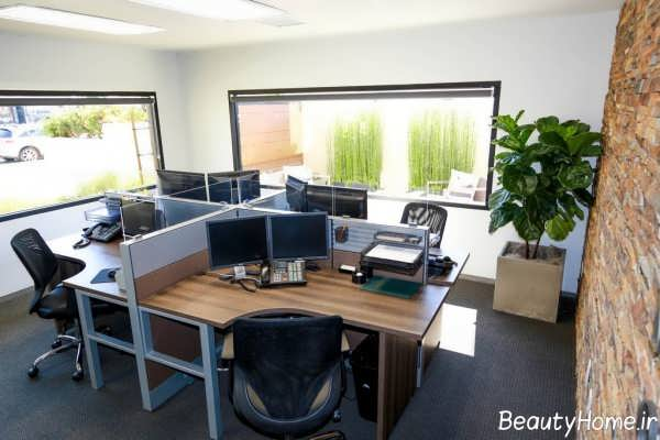 دیزاین دکوراسیون دفتر بیمه