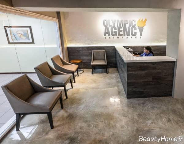 طراحی داخلی شیک و منظم دفتر بیمه
