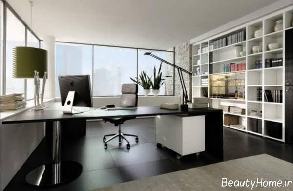 طراحی داخلی شیک دفتر بیمه