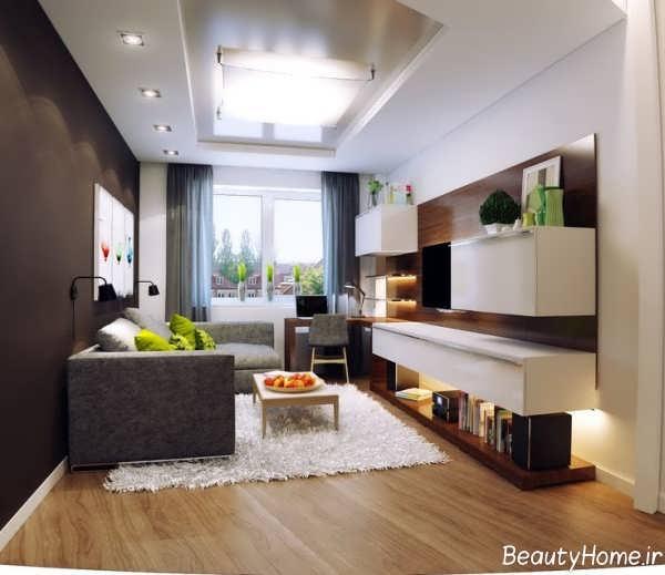 طراحی داخلی پذیرایی کوچک و شیک