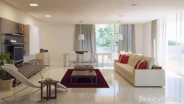 طراحی شیک و زیبا سالن پذیرایی