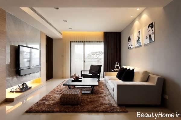 طراحی داخلی پذیرایی کوچک