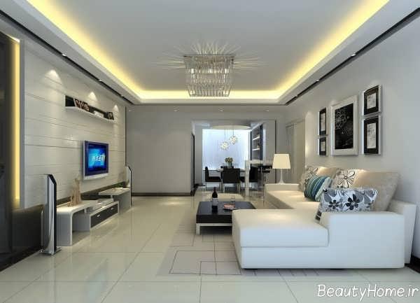 طراحی داخلی پذیرایی کوچک مخصوص واحدهای آپارتمانی با فضای کم