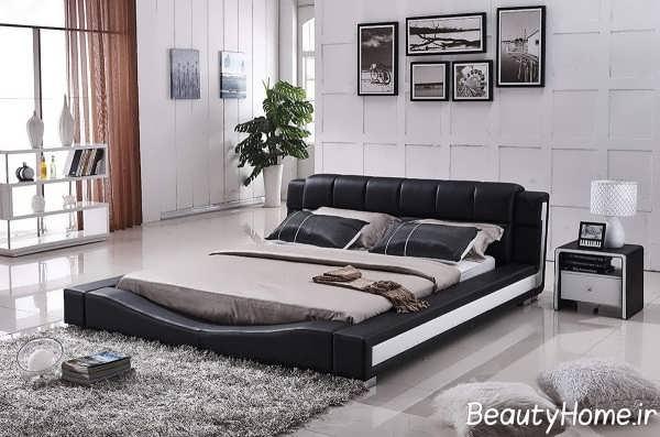 تخت خواب چرمی دو نفره
