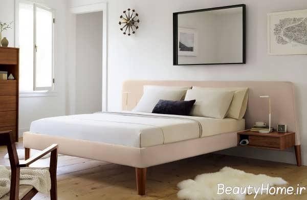 تخت خواب زیبا با تم کرم