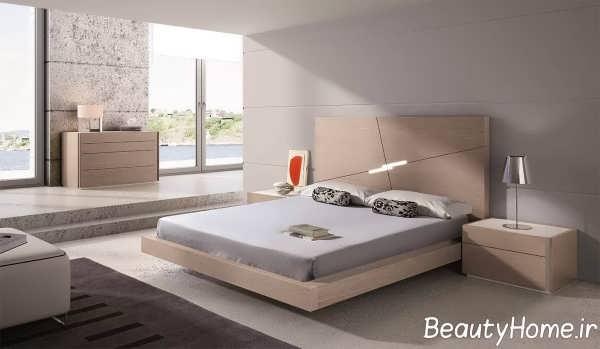 دیزاین زیبای تخت خواب دو نفره