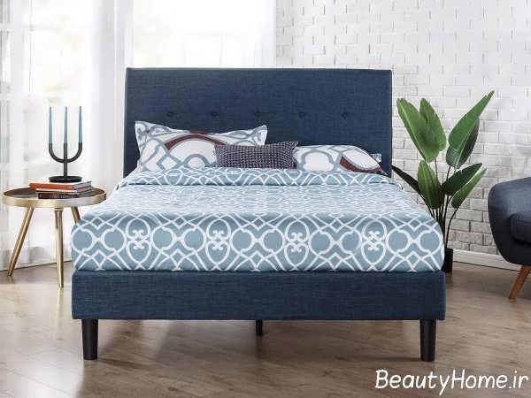 تم خاکستری در دیزاین تخت خواب