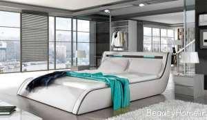 تخت خواب دو نفره سفید رنگ