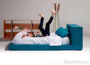 تخت خواب با تم آبی