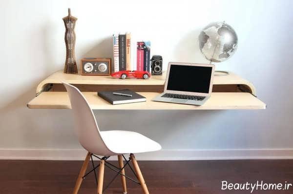 مدل میز کامپیوتر دیواری ساده