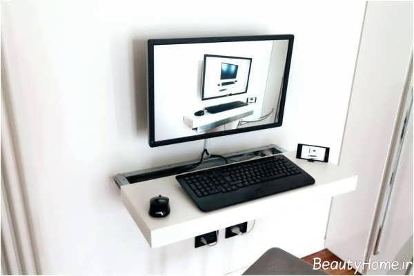 مدل میز کامپیوتر ساده و زیبا