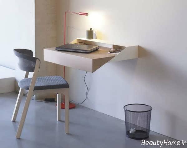 میز کامپیوتر دیواری جدید و کاربردی