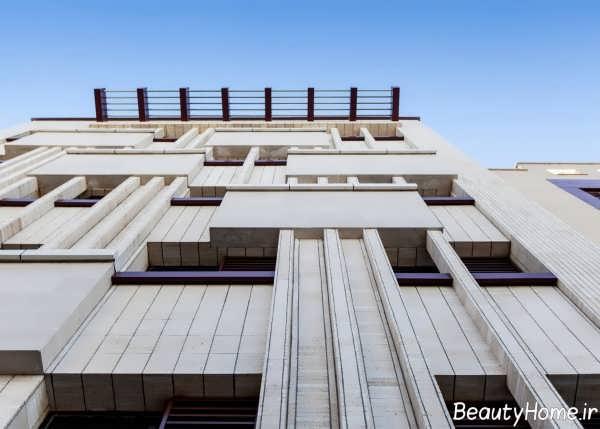 نمای زیبا و خاص ساختمان