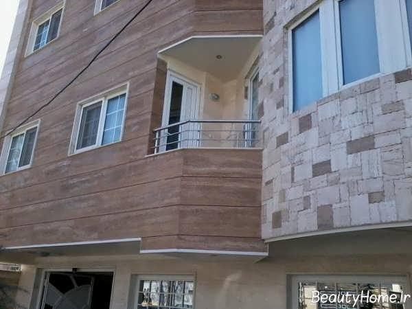 نمای سنگی ساختمان شیک و زیبا