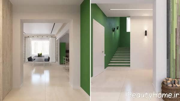 طراحی متفاوت منزل با رنگ سبز