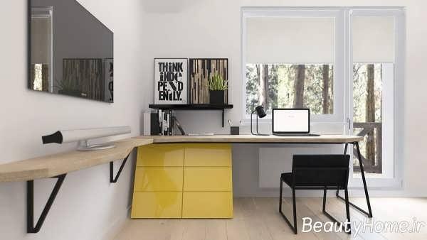 دکوراسیون زرد رنگ اتاق