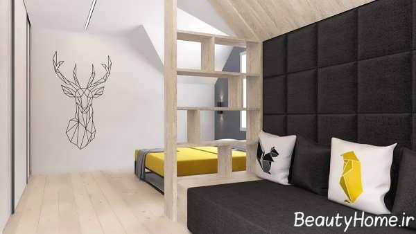 طراحی شیک اتاق با تم ترکیبی